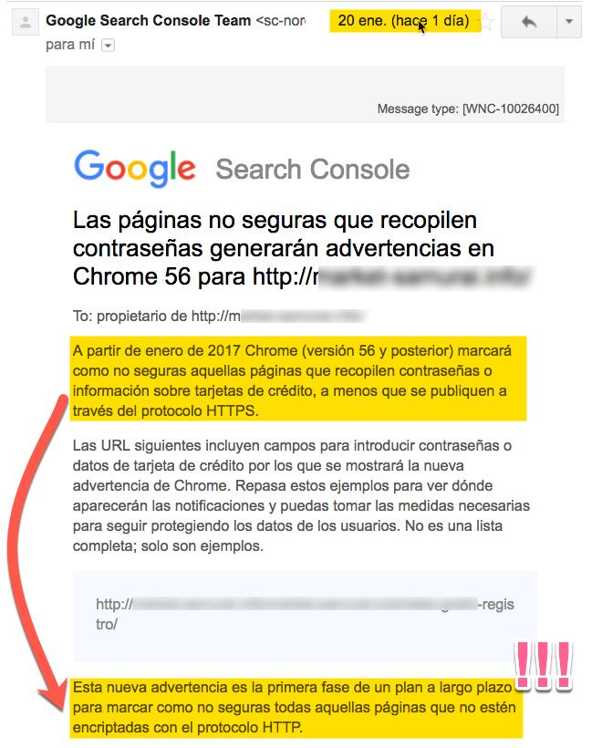 google chrome obliga a usar https