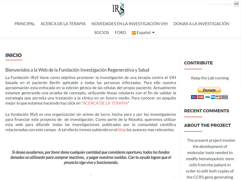 Web multilenguaje con Foro y Blog Fundacion Irys
